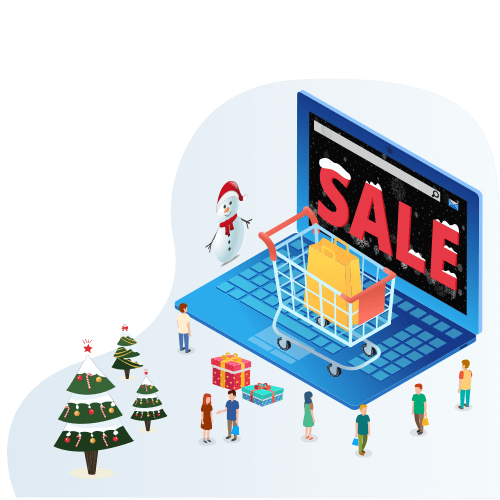 Let landing page be first to announce Christmas Sales