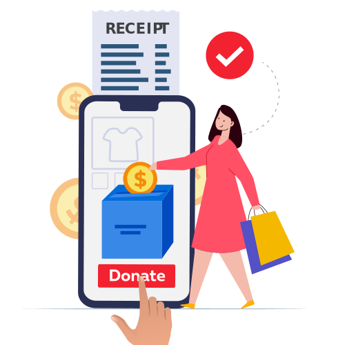 Acknowledge Customers and Track Donations